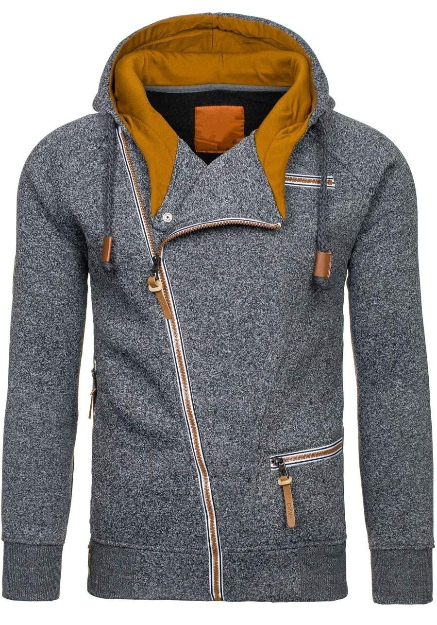 HTB1KjqFXOnrK1RjSsziq6xptpXaa - Men Hoodies Sweatshirt 2019 Spring New Unique Diagonal Zipper Fashion Simple Loose Casual Hooded Streetwear Men Tracksuits Coat