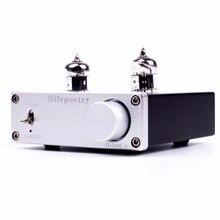 Original Dilvpoetry TUBE-01 Bile Buffer Bile 6J1 Preamp Valvular Preamp Tube Amplifier MINI HIFI Audio Home Amp DC12V Silver