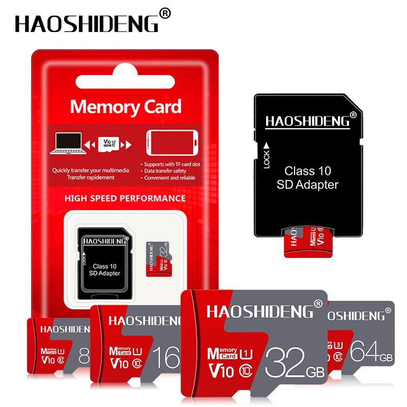High Speed Micro Sd Card 128GB 64GB Tarjeta Micro Sd Memory Card 32GB 16GB Carte Sd/tf Card 8GB MicroSD Flash Card Gift Adapter