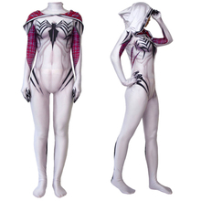 Women Girls Venom Spider Gwen Stacy Cosplay Costume Spiderman Zentai Superhero Bodysuit Suit Jumpsuits