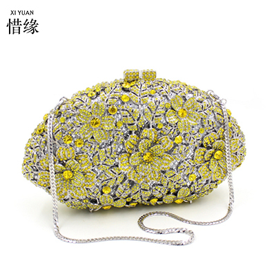 XIYUAN BRAND jeweled clutch Wedding Bridal purse Luxury Diamond Evening Bags Lady Day clutch wallets Women Crystal Party Bags