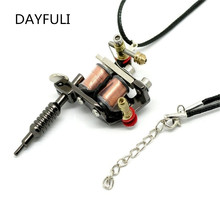 Popular tattoo gun pendant buy cheap tattoo gun pendant lots from hhot charms gothic gunmetal mini tattoo machine necklace pendant giftchina mozeypictures Gallery