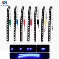 Tira de luces LED de 12V para decoración de coche, luces flexibles de 30CM, 1210, 32 SMD, azul, verde, rojo, blanco, amarillo, rosa, RGB, 2 uds.