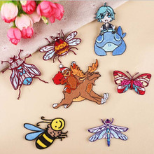 DOUBLEHEE Flying Animals Patch Embroidered Patches For Clothing Iron On For Close Shoes Bags Badges Embroidery food vegetable patch embroidered patches for clothing iron on for close shoes bags badges embroidery