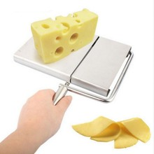 Kitchen Stainless steel Wire Cutting Cheese Slicer Cutter Board Butter cutter cheese slice cheese cutting knife Durable Tool