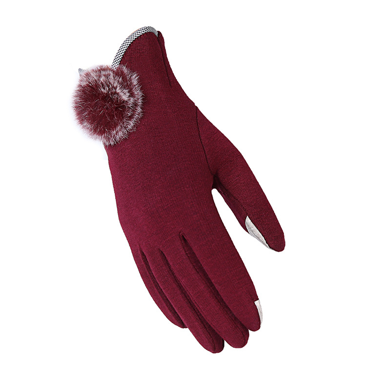 KUYOMENS Fashion Guantes Mujer Women Gloves Screen Winter Gloves Women Warm Gloves Mittens With 3 Colors