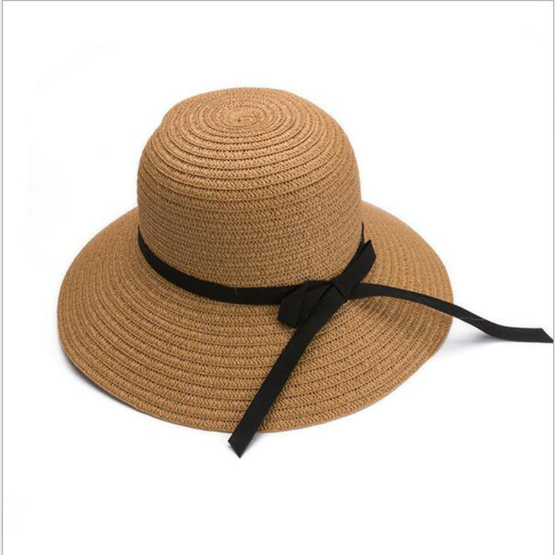 BINGYUANHAOXUAN Women Summer Beach Sun Straw Hat Stylish Floppy Bohemia Cap Straw Hats For Foldable Fashion Women Straw Hats in Women 39 s Sun Hats from Apparel Accessories