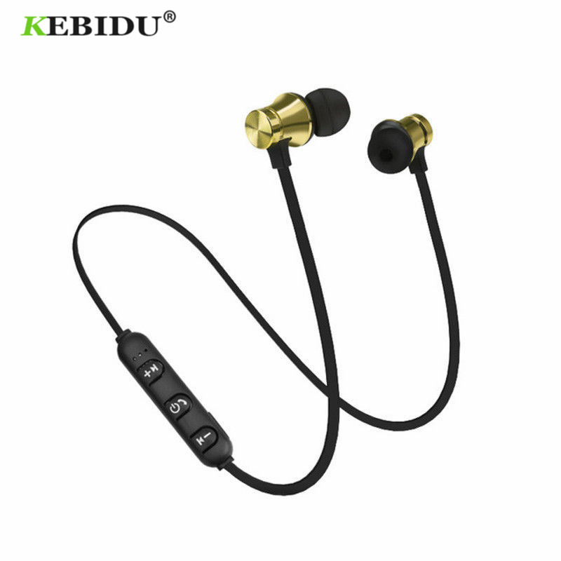 Kebidu XT11 Magnetic Bluetooth Earphone Wireless Earphones with Microphone For iPhone Xiaomi Neckband Sport Earphone In-ear
