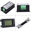 DC 100A LCD Combo Medidor de KWh Watt Tensão atual Medidor de Painel 12 v 24 v 48 v Bateria