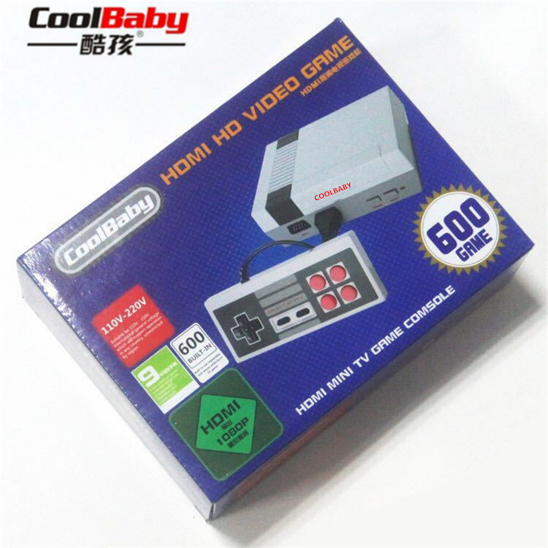 100PCS CoolBaby HD Mini TV Family Game Console HDMI 8 Bit Retro Video Game Console Built In 600 Game Handheld Gaming Player