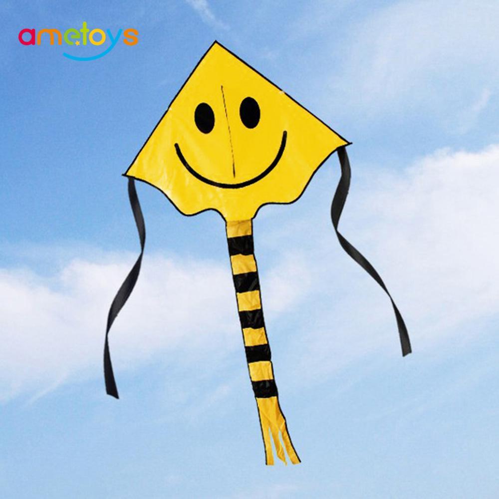 Huge 80cm Smile Faces Single Line Novelty Expressions Kites Children/'s Gift Toys
