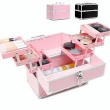 Mulheres profissional saco de cosméticos portátil saco de maquiagem caso grande capacidade organizador de viagem caixa de cosméticos sacos de armazenamento malas
