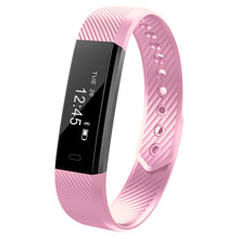 elenxs ID115 Good Bracelet Health Tracker Step Counter Exercise Monitor Band Wristband for iPhone Android