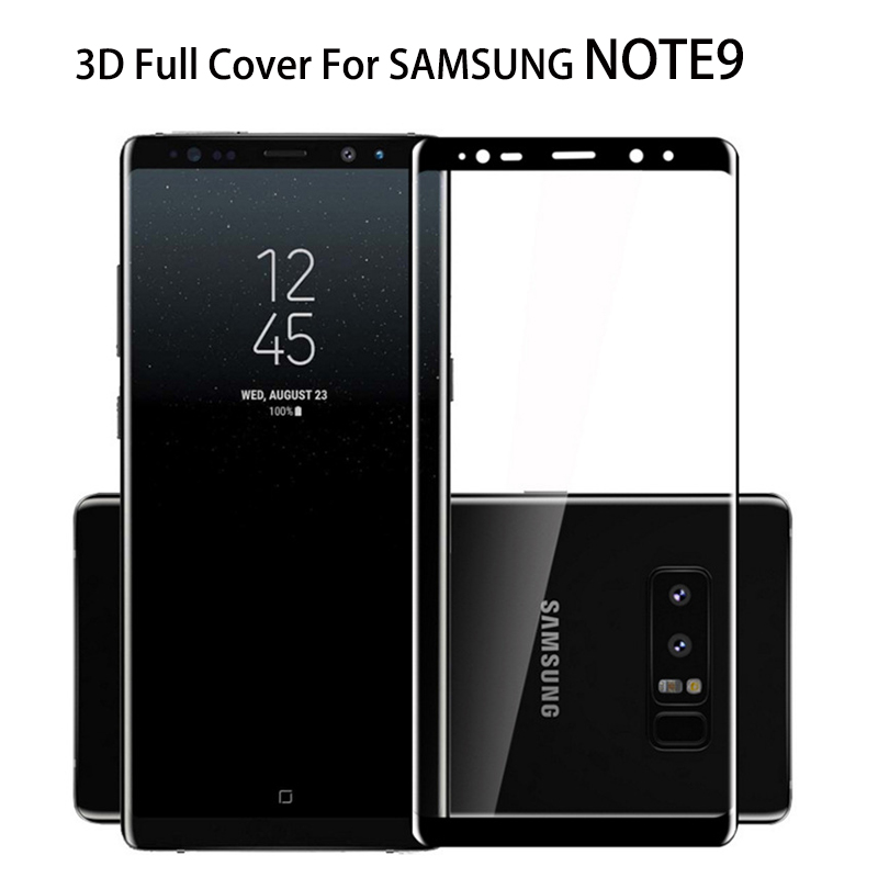 Smartphone NOTE9 <font><b>Glass</b></font> 3D Curved For <font><b>SAMSUNG</b></font> <font><b>Galaxy</b></font> <font><b>NOTE</b></font> <font><b>9</b></font> <font><b>Full</b></font> <font><b>Glue</b></font> <font><b>Tempered</b></font> <font><b>Glass</b></font> Case Friendly Phone N960N image