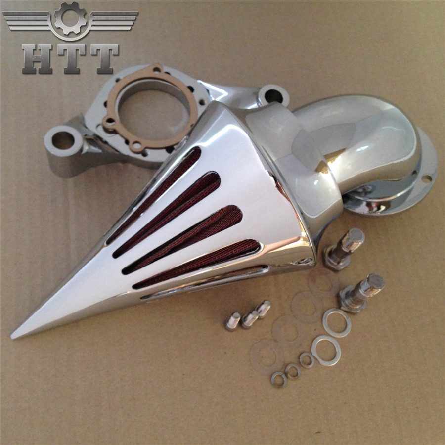 Aftermarket free shipping motor parts Spike Air Cleaner intake filter for Harley Davidson CV Carburetor Delphi V-Twin CHROME chrom cone spike air cleaner intake filter kit for harley sportste cv s