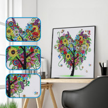 Diamond Painting 5D DIY Colorful Tree Full Special Shaped Crystal Drill For Home Decoration