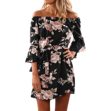 Harbor Midi Dress Women Summer Short Sleev Button-up Sexy  Floral Print Beach Hippie Retro