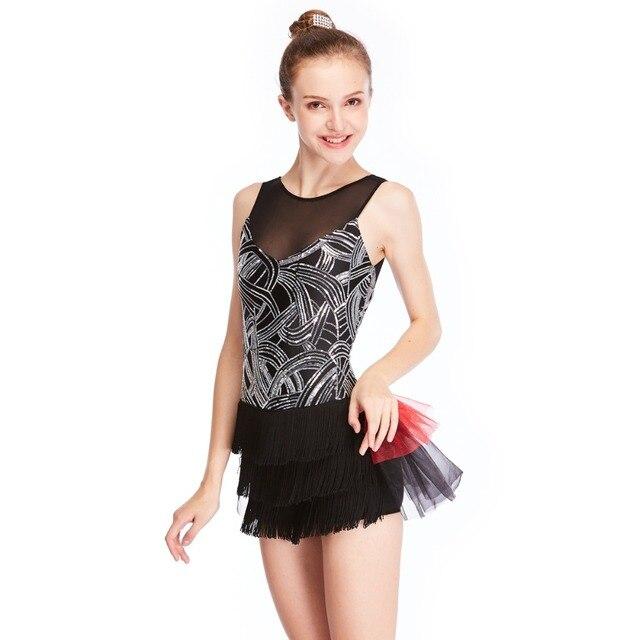 07ddfa30e MiDee Jazz Dance Costume Illusion Wide V neck Tank Top Biketard with ...