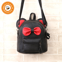 709d4653a4 BONAMIE Mini Small Backpacks For Teenage Girls Bunny Cute Bow Backpack  Women Leather Dot Bow Back