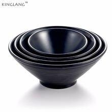 Недорогая миска для рамен kinglang Большая пластиковая меламиновая