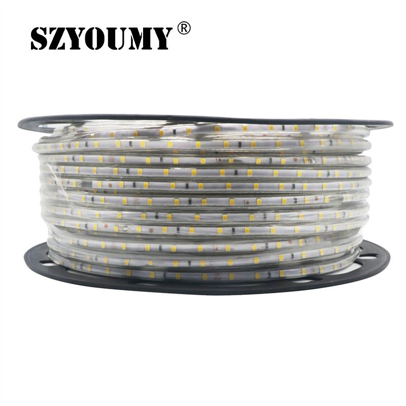 200M Led Strip 2835 220V With Power plug 60 Led M IP67 Waterproof Outdoor Home Decoration