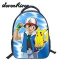 13 Inch Anime Pokemon Boys Girls School Bags Pikachu Daily Backpack  For Teenagers Kids Gift Backpacks Schoolbags Mochila