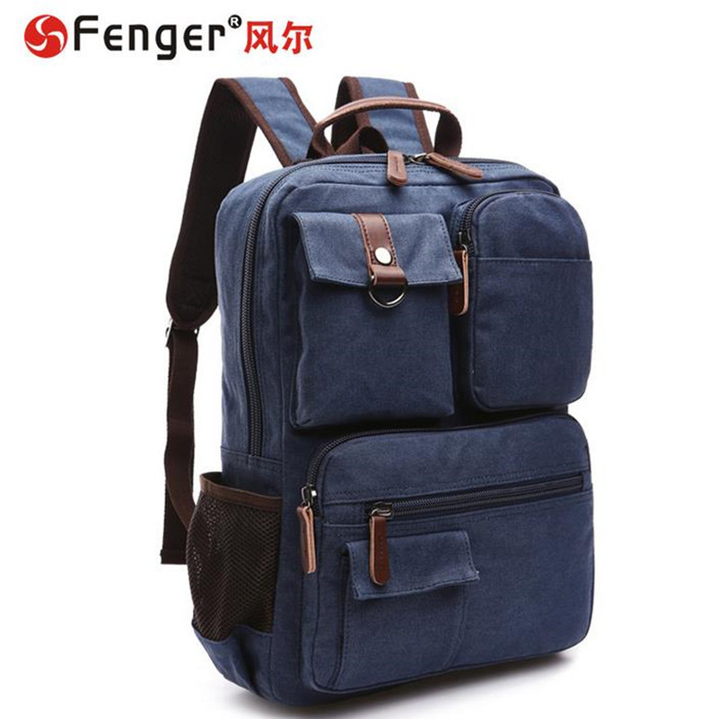 ФОТО Brand Designer High Quality Men Backpack Men's Travel Bags Canvas shoulder bag bolso Borsa Free shipping