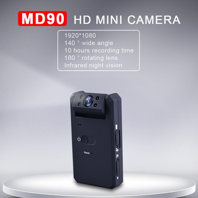 K6 HD 1080 p Mini Macchina Fotografica di Visione Notturna MD90 Mini Videocamera Portatile di Sport di DV Video Voice Recorder Motion Detection Micro Macchina Fotografica pk SQ8 SQ11