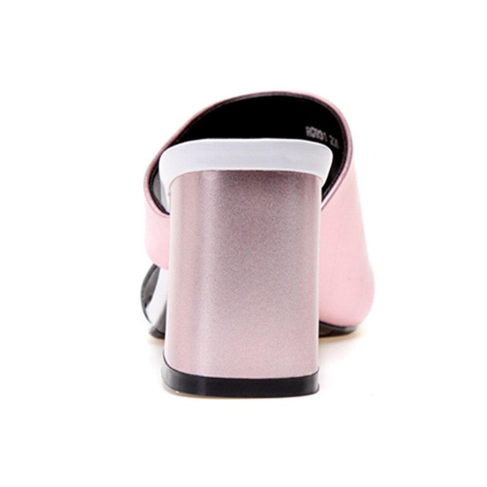 alti vera 2018 Tacchi Donna Ciabatte Sandali Estate argento Tacco Casual rosa pelle quadrato Donna Fashion in Novità Scarpe Asumer AFq7wdZOZx