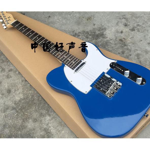 ameican standard electric guitar light blue tele 6 string basswood built in tuner cutaway accept. Black Bedroom Furniture Sets. Home Design Ideas