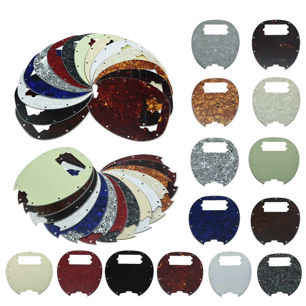 KAISH Bass Pickguard MusicMan Stingray MM4 Scratch plate with screws for  Music Man MM2 4 String Guitar Parts Various Colors