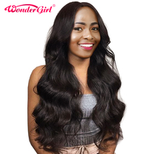 Brazilian Body Wave 360 Lace Frontal Wigs For Black Women 150% Density Lace Human Hair Wigs With Baby Hair Wonder girl NonRemy
