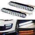 НОВОЕ прибытие 2 xpiece/lot 30 LED Автомобилей Дневного Света DRL D с Поворота Фары стайлинга автомобилей Туман лампы