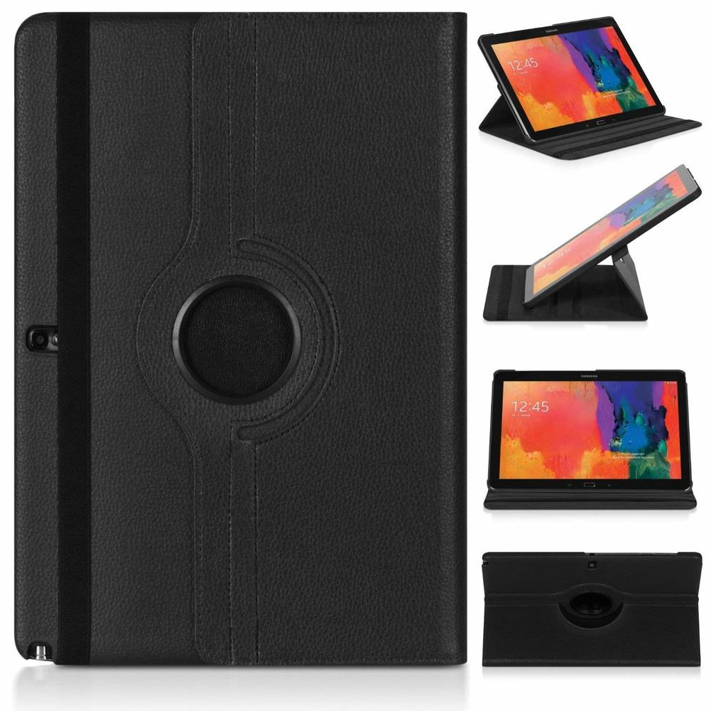 360 Degree Rotating PU Leather Flip Cover Case For Samsung Galaxy Tab Note Pro 12.2inch P900 P901 P905 SM-P900 Tablet Case Glass