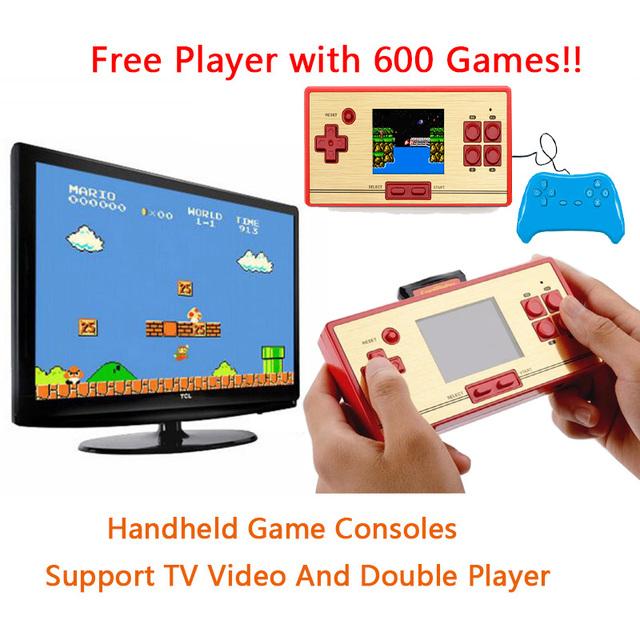 CoolBoy FCPOCKET Clássico 8 bit Handheld Game Console Construir 472 jogos Grátis 128 em 1 cartucho de jogo segundo Jogador Controlador Gamepad
