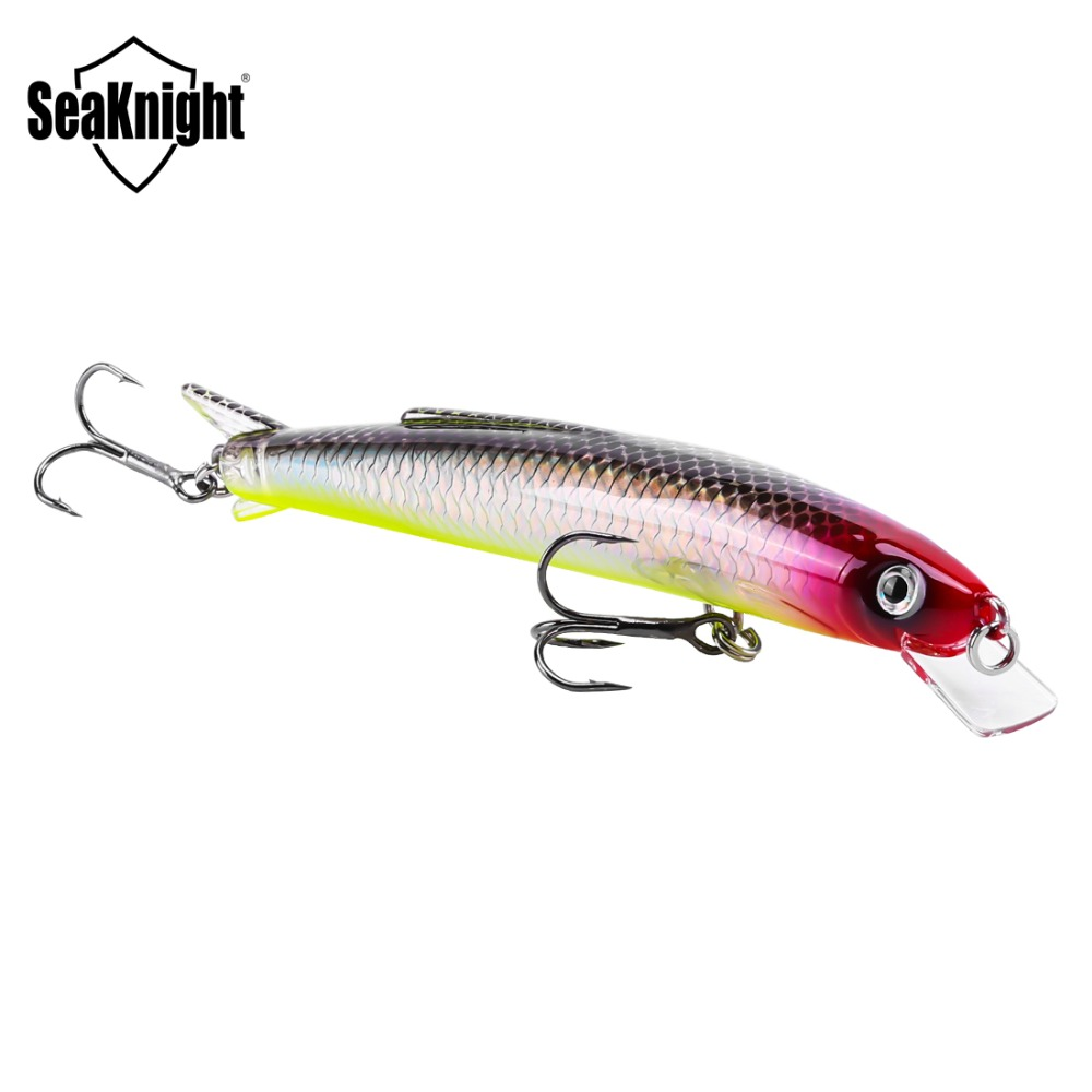 SeaKnight SK005 Minnow Lure 13g 11cm With Strong Hook Diving Depth 0.3-0.9M Floating Hard Artificial Bait Swim Carp Fishing Lure