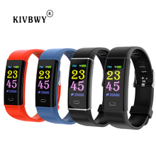 цена на kivbwy Smart Bracelet Fitness Tracker blood pressure Heart Rate Monitor Pedometer Smartband Wristband sport smartwatch