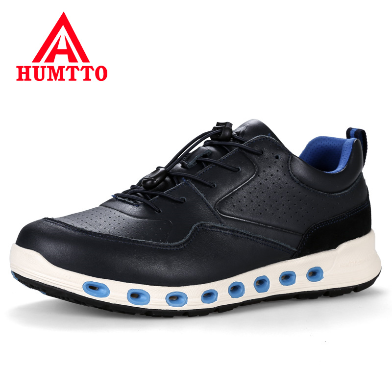 Genuine Leather Outdoor Sport Jogging Men Shoes 2018 Winter Profession Running Shoes Breathable Cushioning Man Sneakers