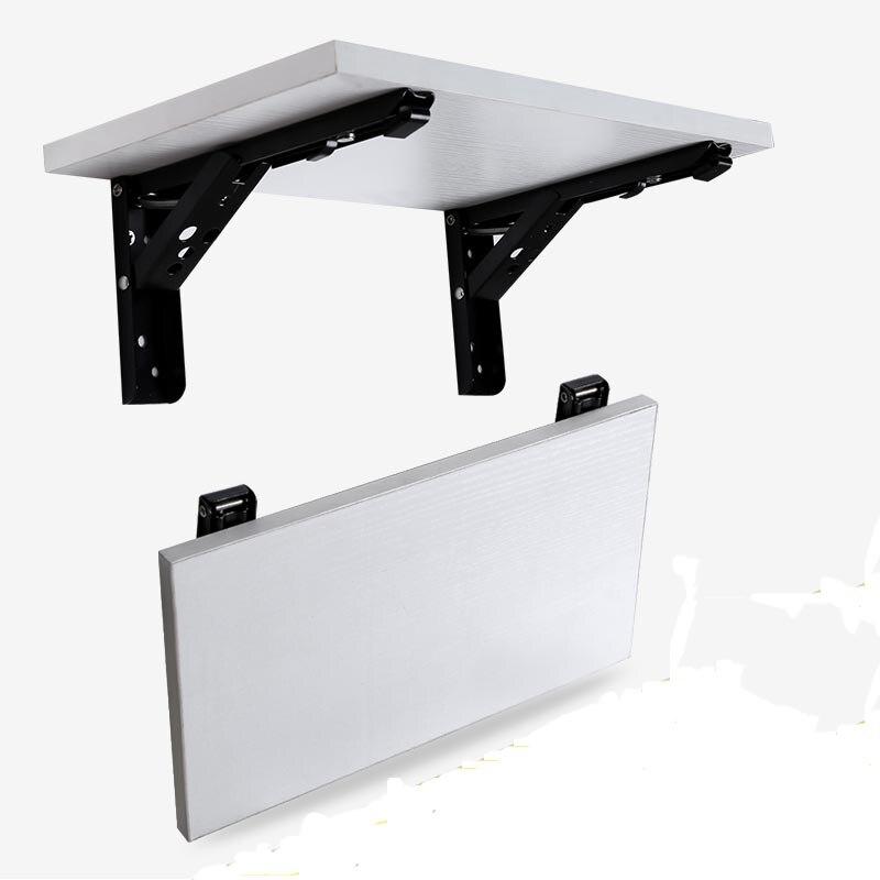 2 PCS 10 Polegada Comprimento Heavy Duty Preto Mesa de Aço Triângulo Pendurado Suporte De Parede Suporte de Prateleira de Dobramento