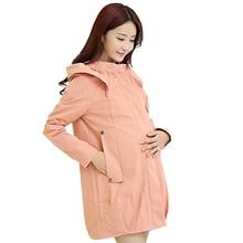 Траншеи gravida износ ветровка беременности верхняя материнства куртки беременных пальто осень