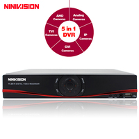 NINIVISION 4CH 8CH 1080P TVI CVI AHD NH 5 In1 Hybrid DVR 1080P NVR Video Recorder