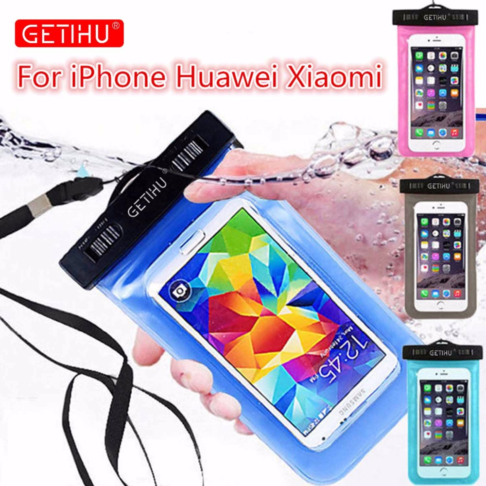 GETIHU Universal Waterproof Bag Pouch Phone Case For iPhone X 8 7 6 5 Samsung S8