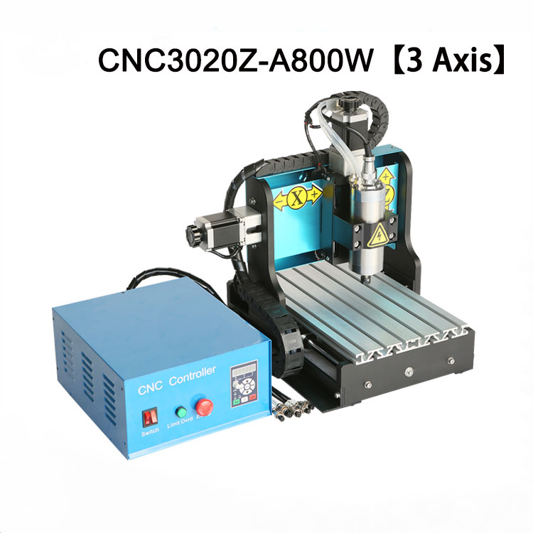 3Axis 3020 CNC Router 800W Water cooled Spindle CNC Mini Engraving Machine USB for EVA Foam Woodworking Soft Metal Carving New