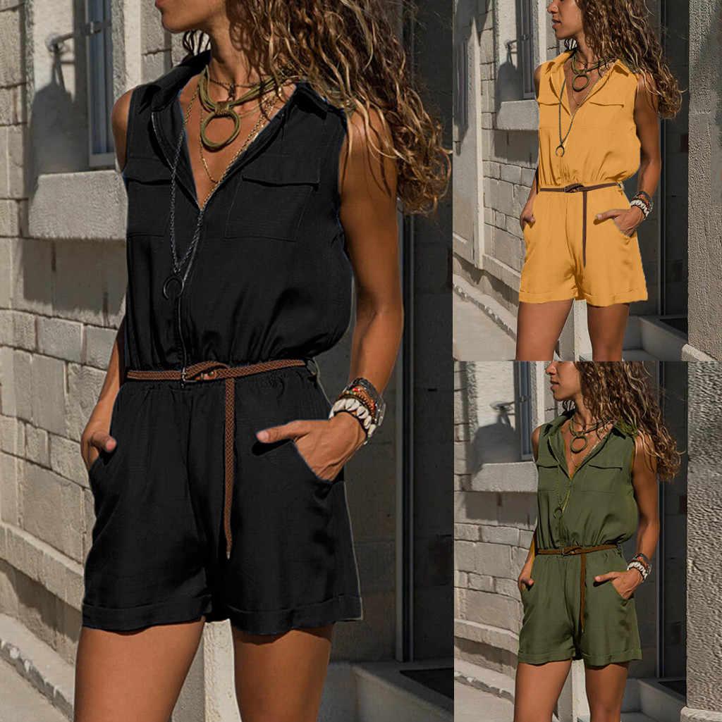 JAYCOSIN сексуальный женский новый модный тонкий облегающий комбинезон женский армейский зеленый однотонный Повседневный обтягивающий костюм женский винтажное боди-трико комбинезон 2019