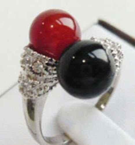 ร้อนขายรูปแบบใหม่>>>>สวยสีดำสีแดงแหวนผู้หญิง