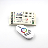 DC 12 24V Audio Input Wireless 2 4G RF Remote Controller LED Music Sound Control RGB