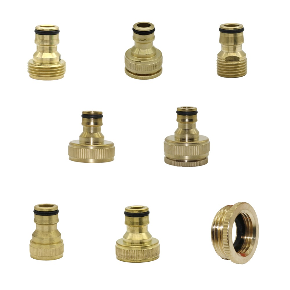 "1/2"",3/4"",1"" Thread Brass Quick connector Agriculture tools Garden Watering Adapter Durable Joint Drip Irrigation Fittings 1 Pcs"