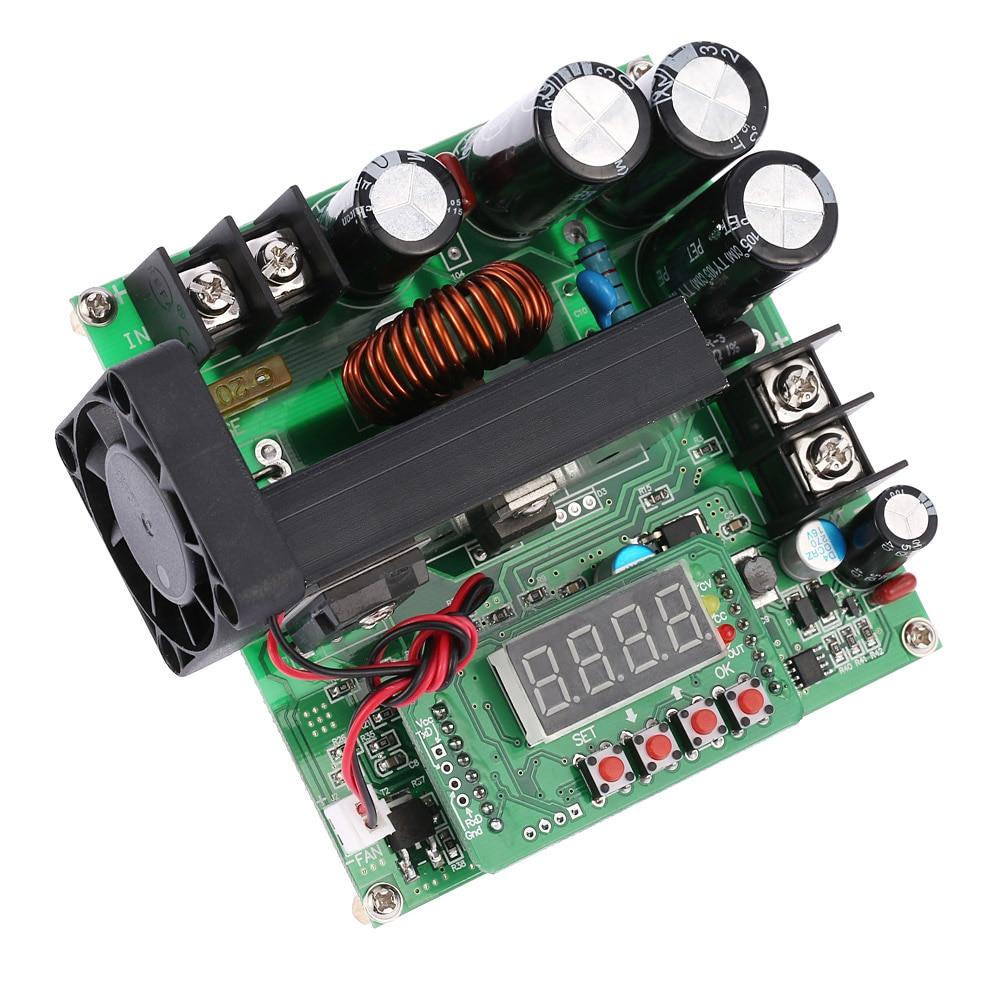 900 Вт цифровой Управление DC-DC Boost модуль отлично подходит повышающий преобразователь Питание модуль CC/CV светодиодный Дисплей 0-15A В 8-60 В из ...