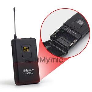 Image 4 - IiiMymic IU 302A UHF 600 700MHz برو ثنائي القناة ميكروفون لاسلكي 2 Bodypack + 2 التلبيب و 2 سماعة ميكروفون نظام ل DJ كاريوكي