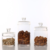 New Food Storage Glass Jar No Lead Kitchen Storage Bottles Sealed Cans with Cover Large Capacity Candy Glass Jars Tea Box